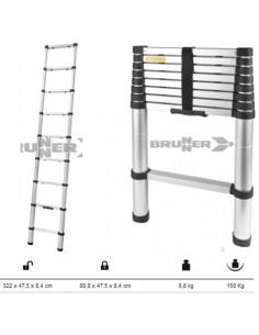 Echelle télescopique en aluminium hauteur 3,22m