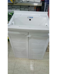 Mueble armario de resina con fregadero incorporado for Fregadero resina