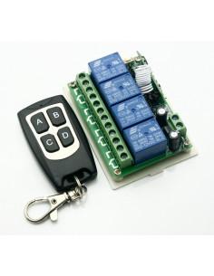 Receptor 4 canales con mando 12v