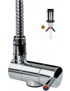 Mezclador monomando para manguera de ducha