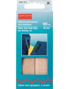 Velcro adhesivo. Cinta sujección. 60cm 20mm