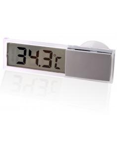 Transparentes Digitalthermometer mit Saugnapf