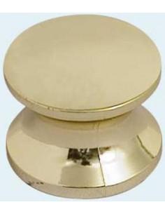 Bouton doré vissé pour fermer la boîte (Falleba).