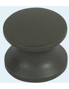 Botão preto parafusado para fechar a caixa (Falleba).