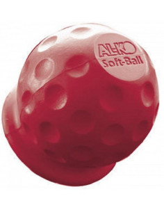 Cubre enganche de goma alko para remolque color rojo