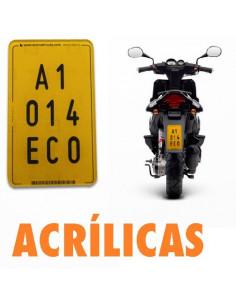 Placa de acrílico. Ciclomotor