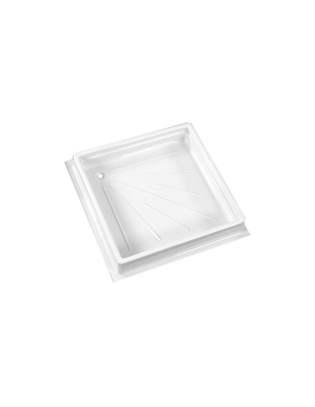 Plato de ducha 680 x 680 mm blanco tienda de camping online for Accesorios plato ducha
