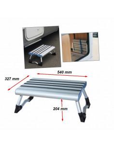 Peldaño de aluminio anodizado antideslizante