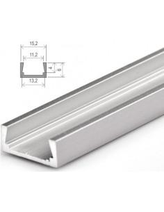 Perfil de superfície de alumínio para LEDs 1 metro