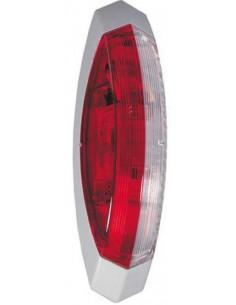 Luz de posição Galibo Bicolor carcaça branca