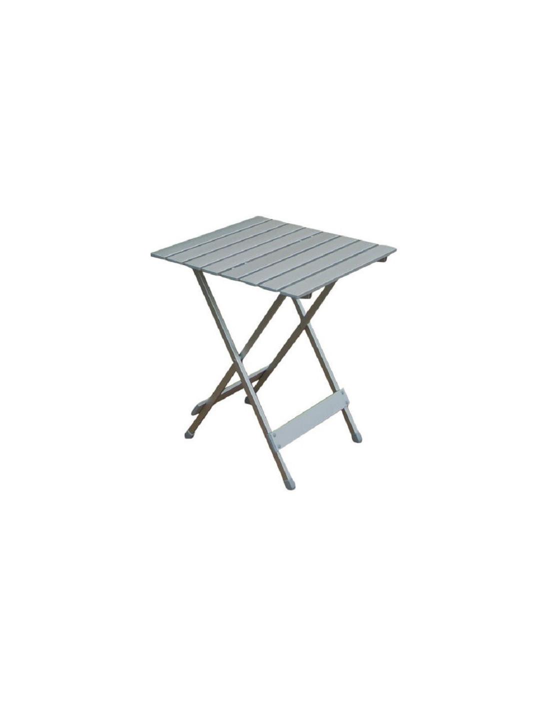 mesa plegable auxiliar de aluminio individual tienda de