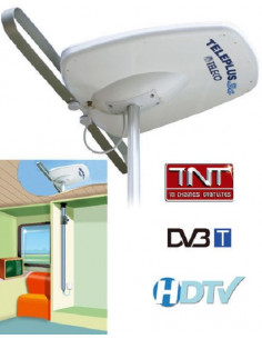 Antenne directionnelle TelePlus 3G 38dB avec mât