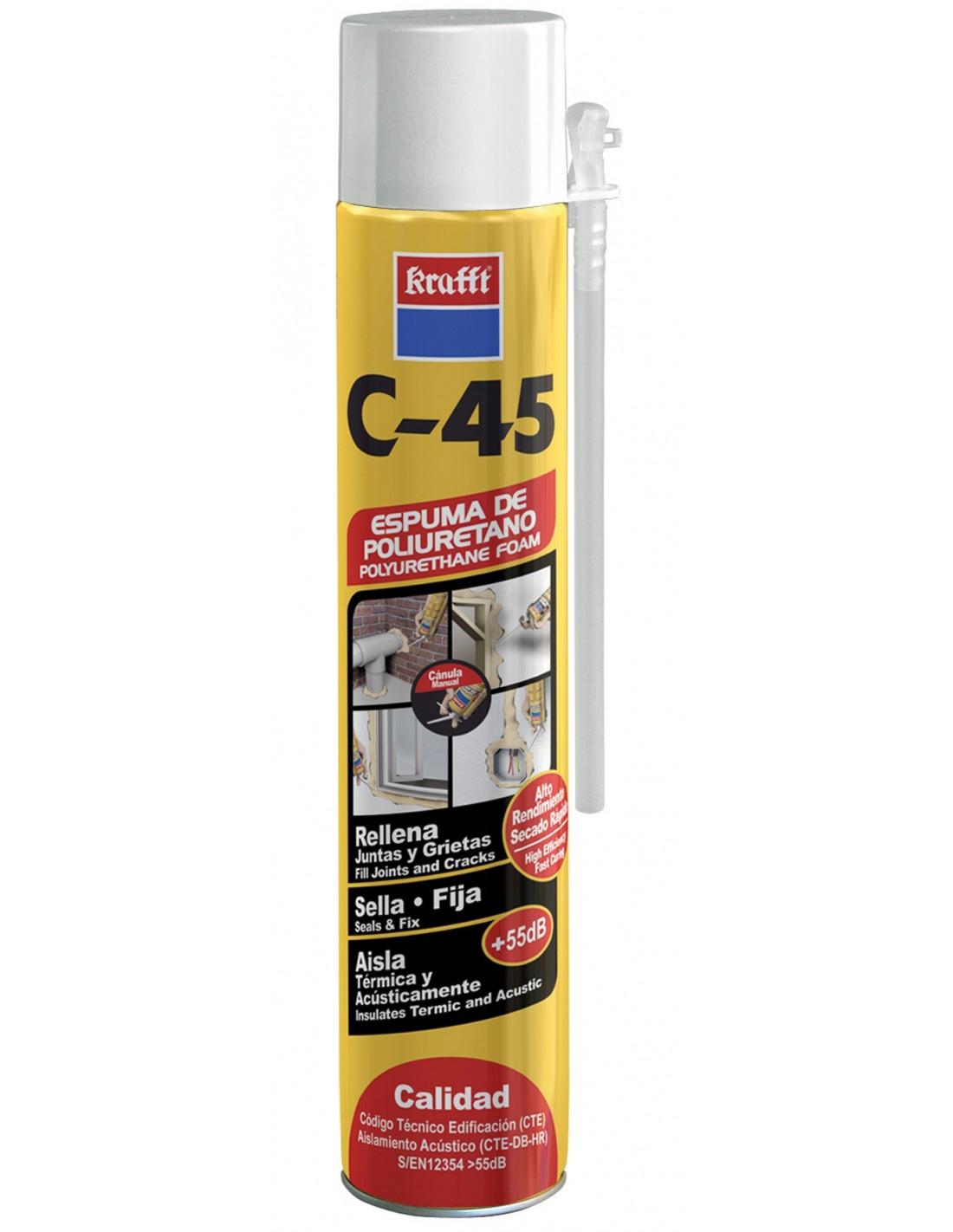 eac69ba3170 Espuma poliuretano Krafft C-45 750 ml