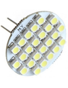 Led bulbo camping campervan g4 24 leds luz quente SMD1210