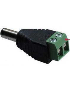 Conector Macho DC 5,5mm a regleta