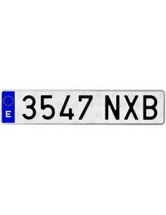 Nummernschild Aluminium. Auto. Lange