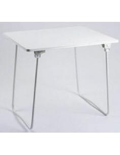 Mesa plegable patas acero 80x60 cm