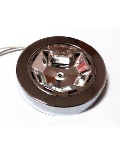Plafón superficie cromo para bombillas G4 o Bipin