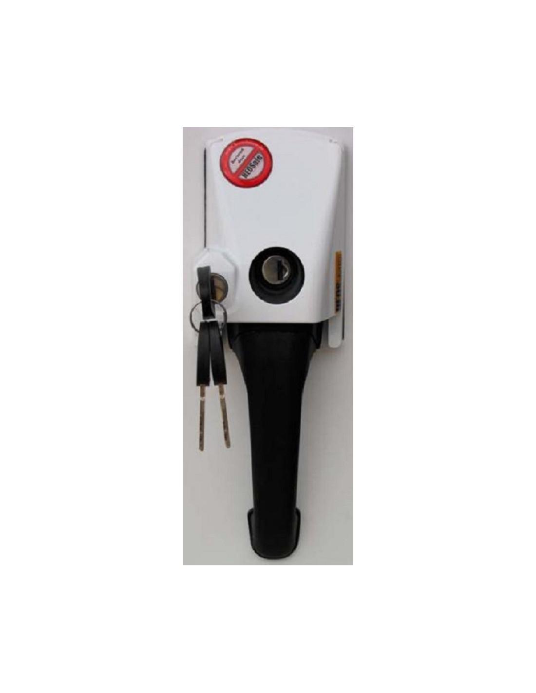 Seguro para puertas cerradura externa con manija tipo for Manija de seguridad para bano