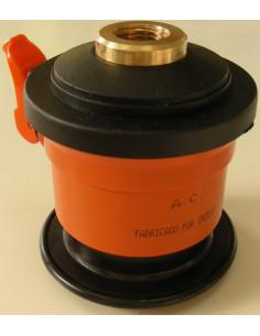 Adaptador regulador de gás butano padrão com rosca em garrafa azul