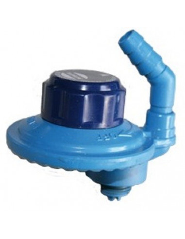 Regulador botella azul camping 29mbar. Salida giratoria