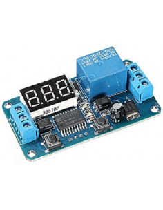 Minutero digital 12v. con relé independiente. 2 botones.  Automatización. Programador o temporizador