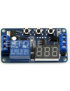 Minutero digital 12v. con relé independiente. 3 BOTONES. Automatización, programador o temporizador