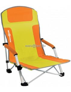 Cadeira dobrável Bula. Amarelo / Azul Claro. Brunner
