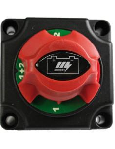 Seletor de bateria 300 A com botão rotativo.
