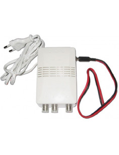 Amplificador com ajuste duplo de 12 V ou 220 V