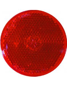 Catadrióptico redondo rojo 8.1 cm Ø