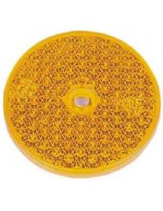 Catadrióptico redondo naranja 7,2 Ø x2