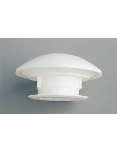Aerador circular em plástico branco