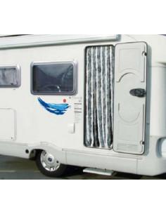 Cortina puerta Caravana Midland 56x185 cm Gris y Blanca