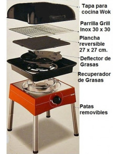 Barbacoa Grill multifuncional. Midland
