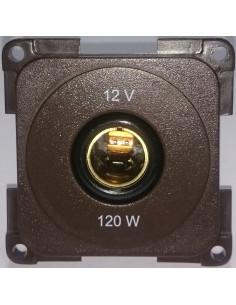 Plugue de isqueiro para pequena tomada marrom 12V