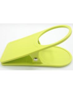 Pinza clip sujeta vasos Verde
