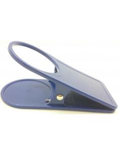 Braçadeira clipe prende óculos azul