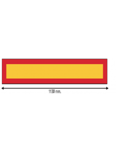 Plaque V6 long véhicule Aluminium 113cm