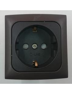 Stecker für 230V Steckdose. Brown