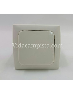 Interruptor con caja de mecanismo. Blanco