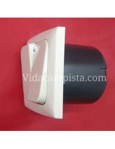 Interruptor doble 230V. Blanco