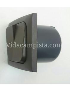 Interruptor doble 230V. Marrón
