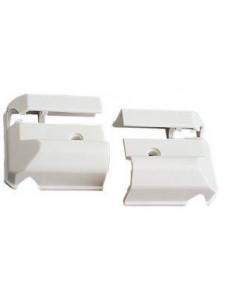 terminales de perfil para ventana. Blanco ( 2 unidades)