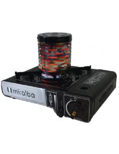 Tragbarer Gaskocher mit Miralba-Wärmeverteiler