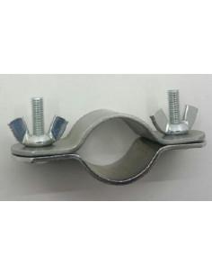 Abrazaderas de doble sujeción para tubo de refuerzo de 22-25mm. x2