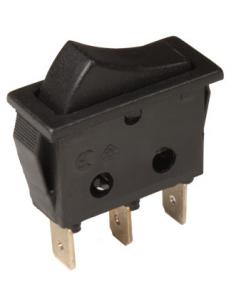 2P 1C Wippschalter. Schwarzer Schlüssel