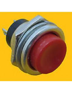 Pulsador de panel normalmente abierto de tecla roja
