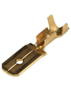 6,3 mm Messing-Flachstecker