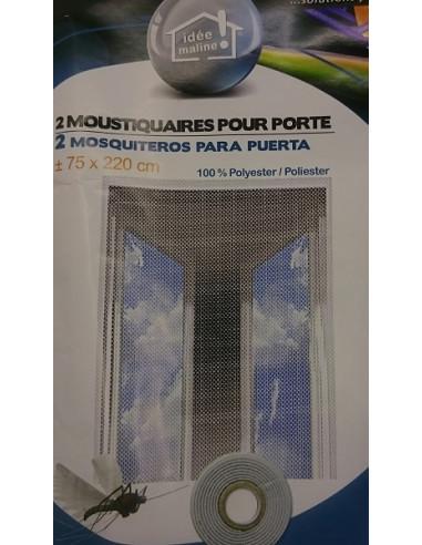 Cortina mosquitera anti insectos para puerta 2 und x for Cortina mosquitera puerta